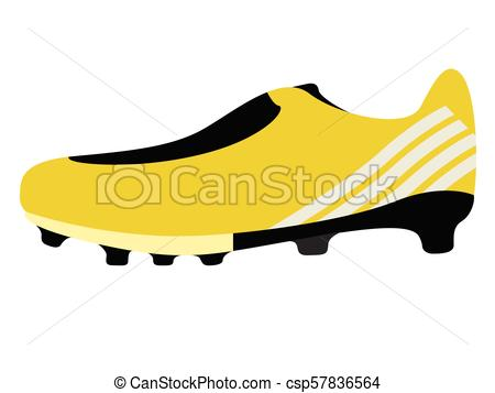 450x357 Isolated Soccer Cleat Icon. Vector Illustration Design Clip Art