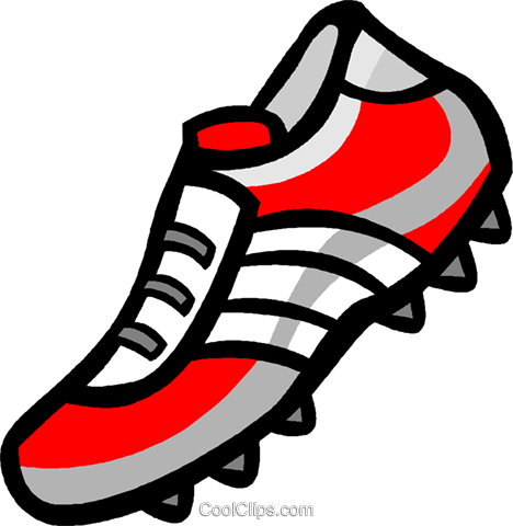 468x480 Soccer Cleat Royalty Free Vector Clip Art Illustration Vc004632