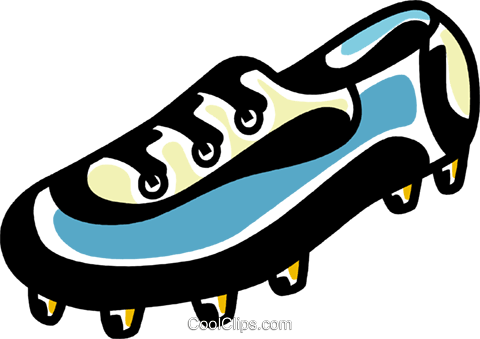480x339 Soccer Cleats Royalty Free Vector Clip Art Illustration Vc069308