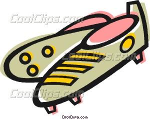 300x238 Soccer Cleats Vector Clip Art