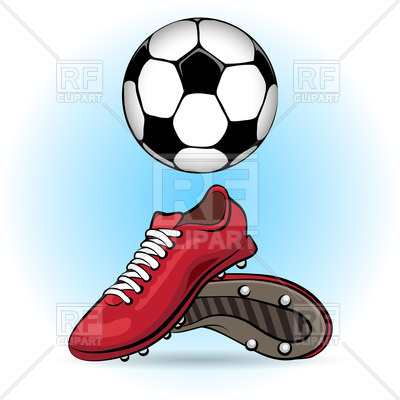 400x400 Sporting Shoes And Soccer Ball