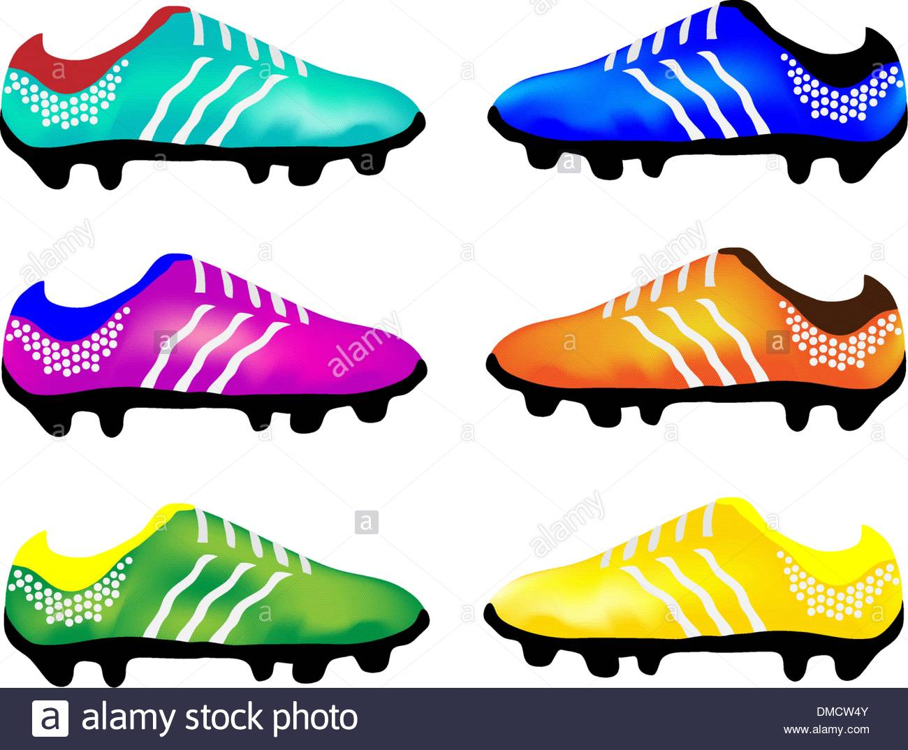 1300x1074 The Multicolor Illustration Of Sport Football Boots Stock Vector