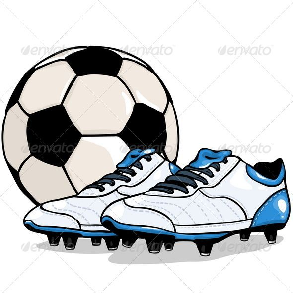 590x590 Vector Football Ball And Boots Filing, Vector Pattern And Fonts