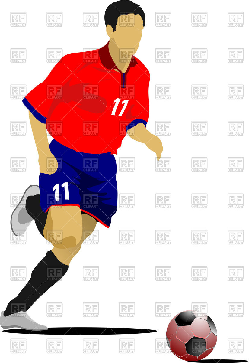 825x1200 Silhouette Of Running Soccer Player Royalty Free Vector Clip Art
