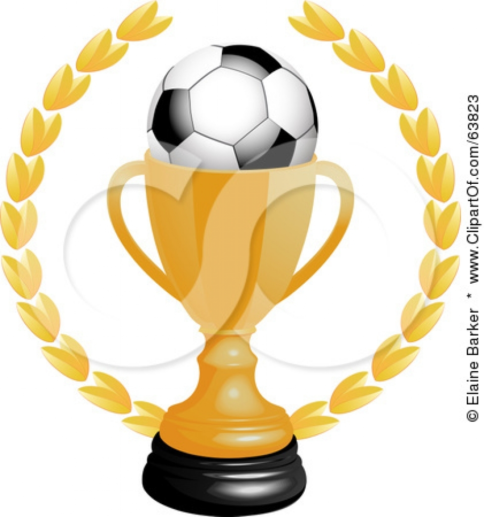 958x1024 Soccer Trophy Clipart