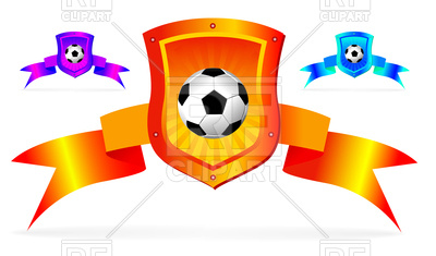 400x235 Soccer Shield Background Royalty Free Vector Clip Art Image