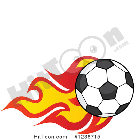 450x470 Clip Art Ball Flames Soccer Clipart 1236715 Flying With By Hit