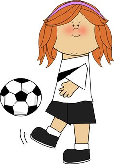 236x339 Girl With Soccer Trophy Clip Art