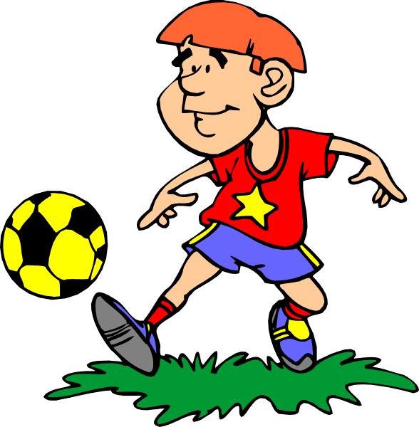 588x600 Image Of Kids Soccer Clipart