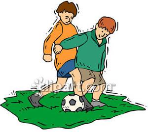 300x269 Boy Playing Soccer Clipart