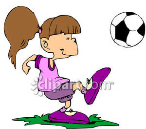 300x264 Collection Of Girl Kicking A Soccer Ball Clipart High