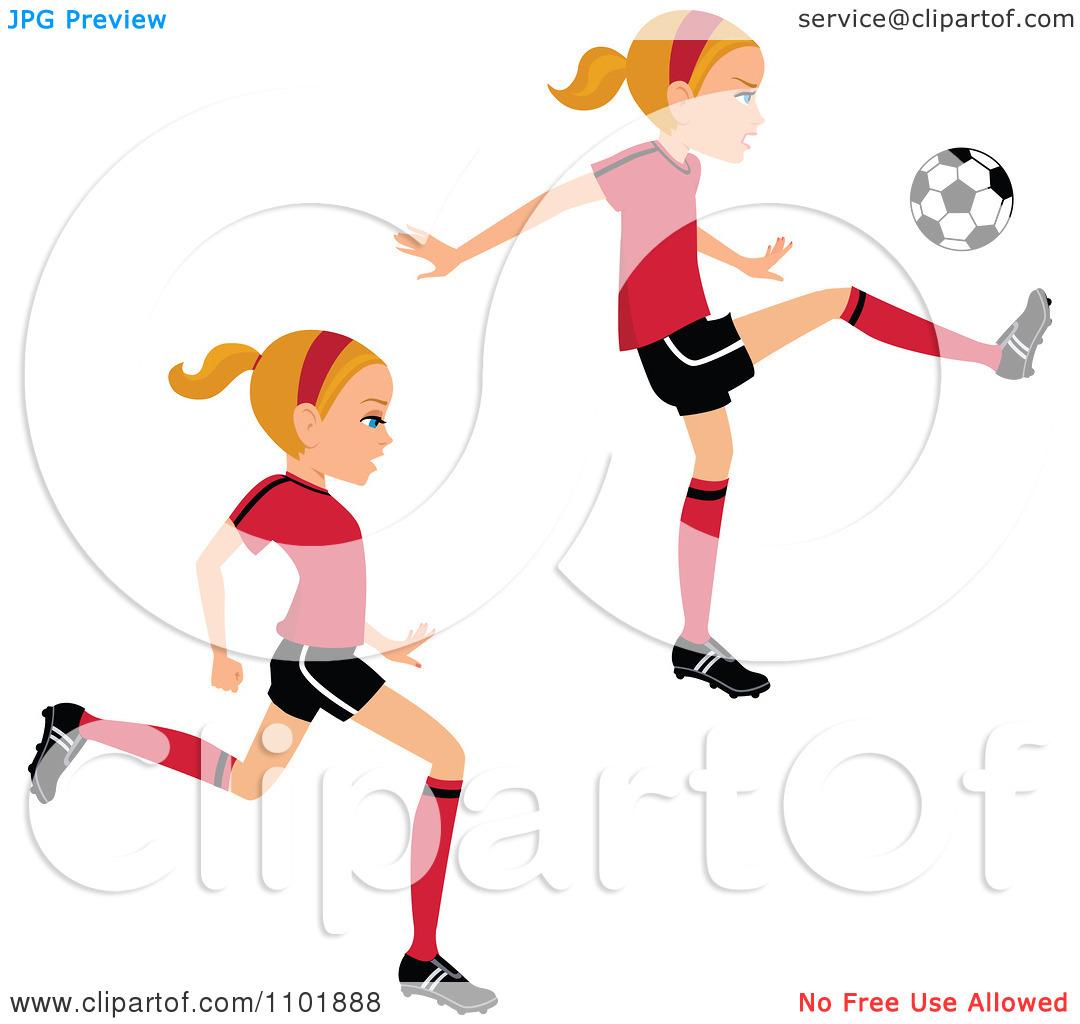 1080x1024 Girl Kicking Soccer Ball Clip Art Clipart Panda
