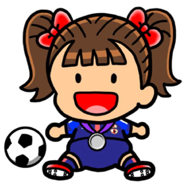 600x600 Girl Soccer Player Clip Art