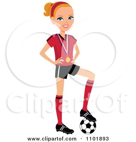450x470 Girl Soccer Player Clipart