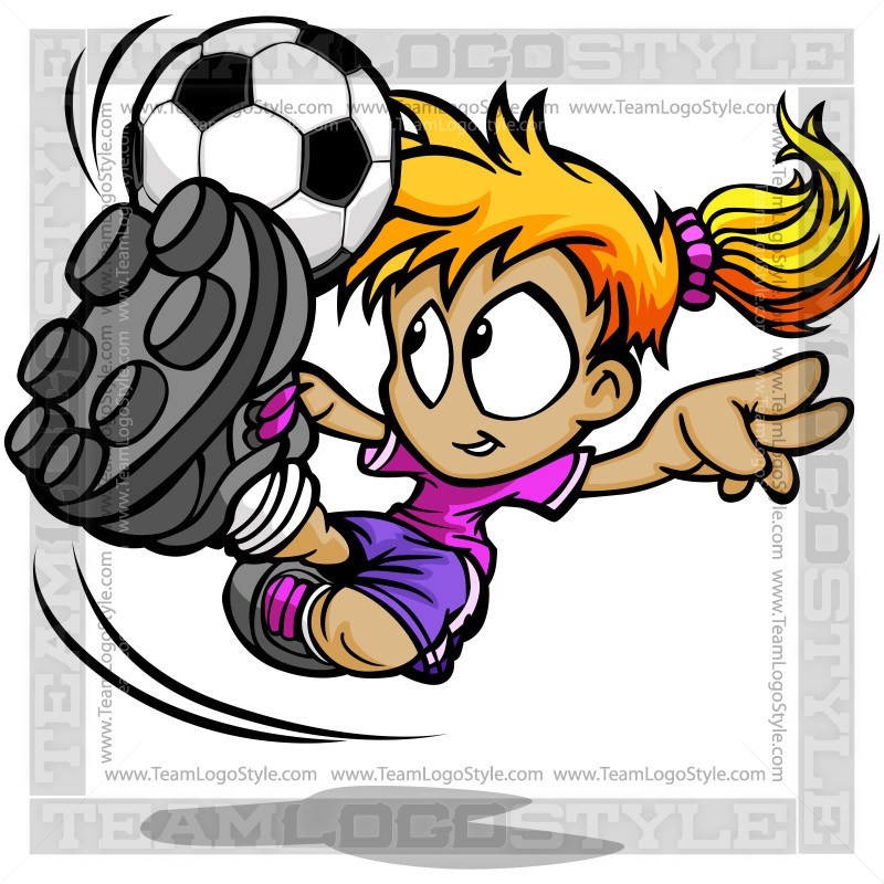 800x800 Soccer Girl Clip Art
