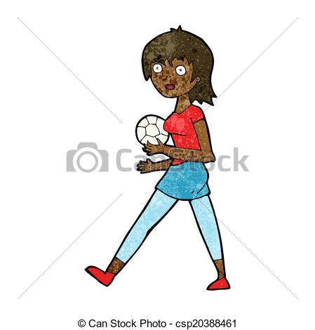 449x470 Cartoon Soccer Girl Clip Art Vector