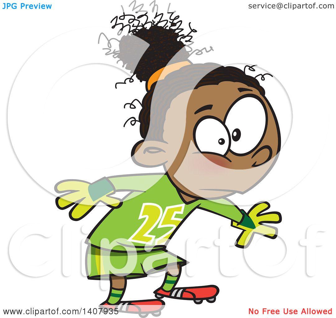 1080x1024 Clipart Of A Cartoon African Girl Soccer Goal Keeper