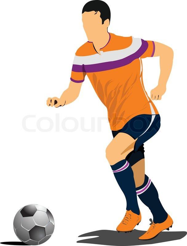 608x800 Football Soccer Players Stock Vector Colourbox