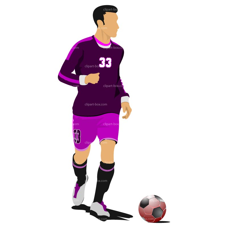 800x800 Soccer Player Clipart