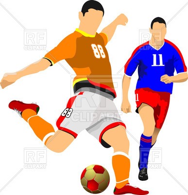 387x400 Two Soccer Players Vector Image Vector Artwork Of People