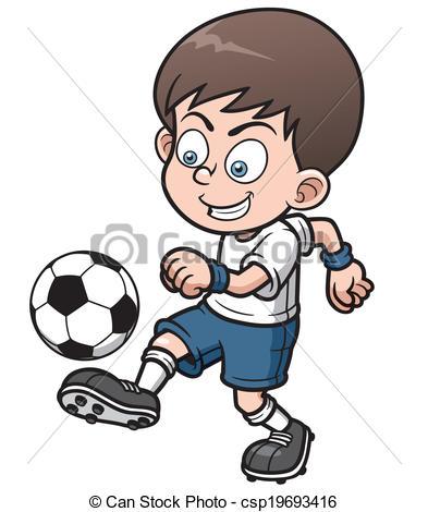 393x470 Vector Illustration Soccer Player Vector Clip Art