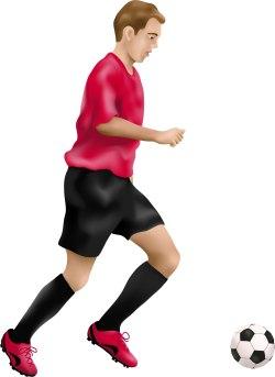 250x343 Clip Art Of A Soccer Player Clipart Panda