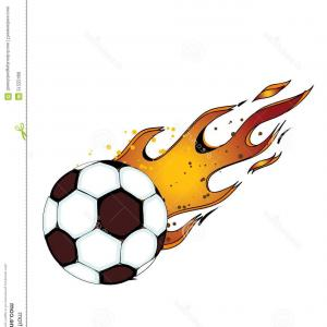 300x300 Sporting Shoes And Soccer Ball Football Boots Vector Clipart