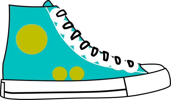 600x353 Tennis Shoes Clipart Black And White Free 4