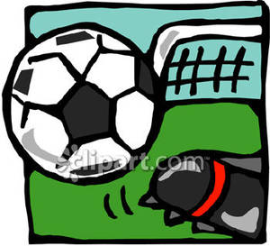 300x273 Soccer Cleats Clipart