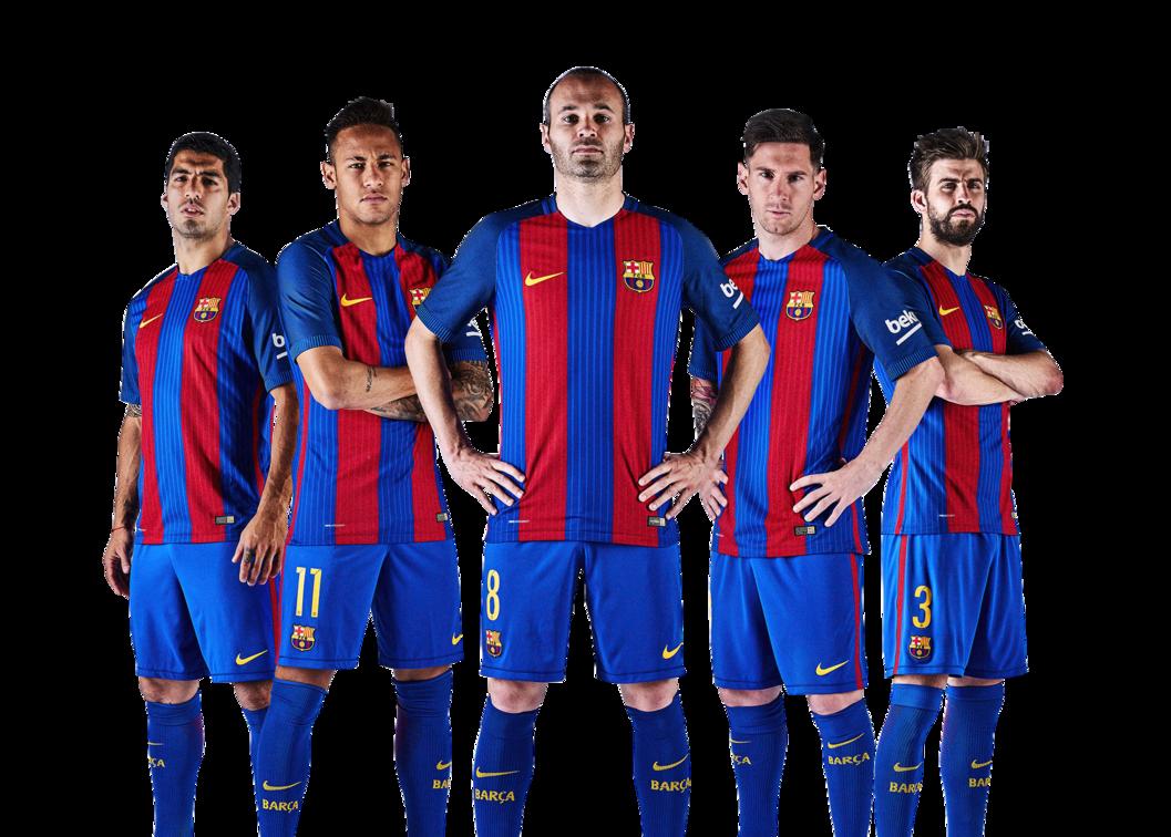 1057x756 Fc Barcelona Team 2018 Png Clip Art