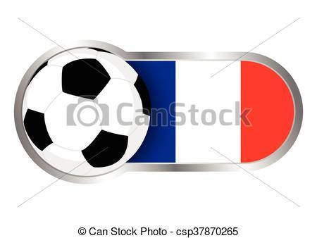 450x338 France Insignia Soccer Team. Modern Icon For Soccer Team Clip