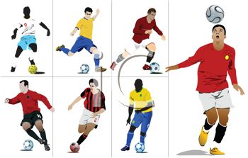 350x223 Royalty Free Clip Art Image Collection Of Soccer Players
