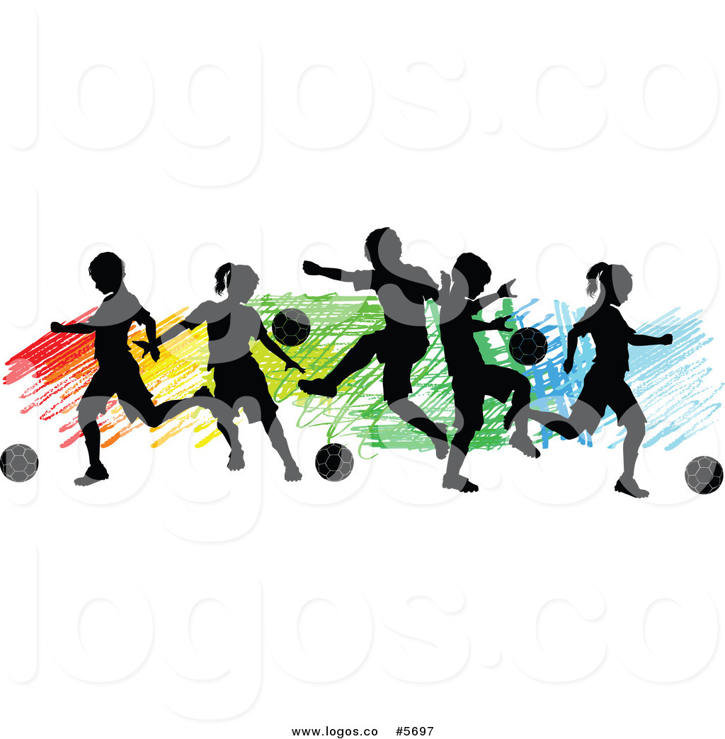 1024x1044 Royalty Free Vector Of A Logo Of Silhouetted Children Playing