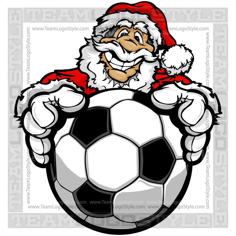 800x800 Santa Claus Holding Soccer Ball