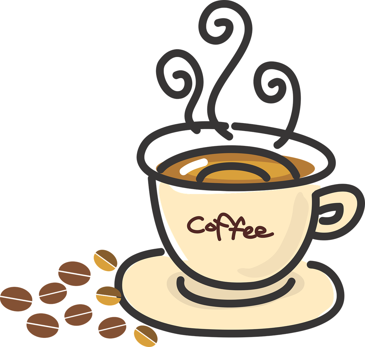 1280x1218 Collection Of Coffee Social Clipart High Quality, Free