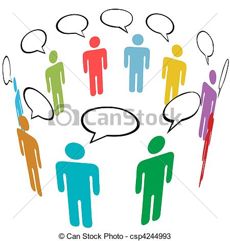 450x470 Many People Group Talk Network Social Media Clip Art Vector