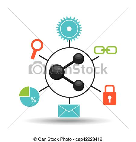 450x470 Sharing Symbol Technology Social Media Concept. Sharin Vector