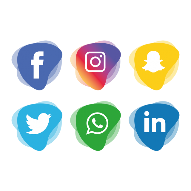 640x640 Social Media Icons Set, Social, Media, Icon Png And Vector