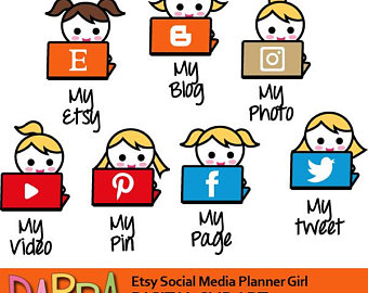 340x270 Blogger Clipart Blogging Clip Art Social Media Planner Icon