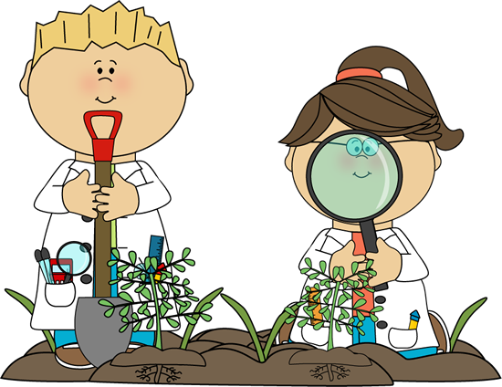 550x424 Science Kids Examining Plants