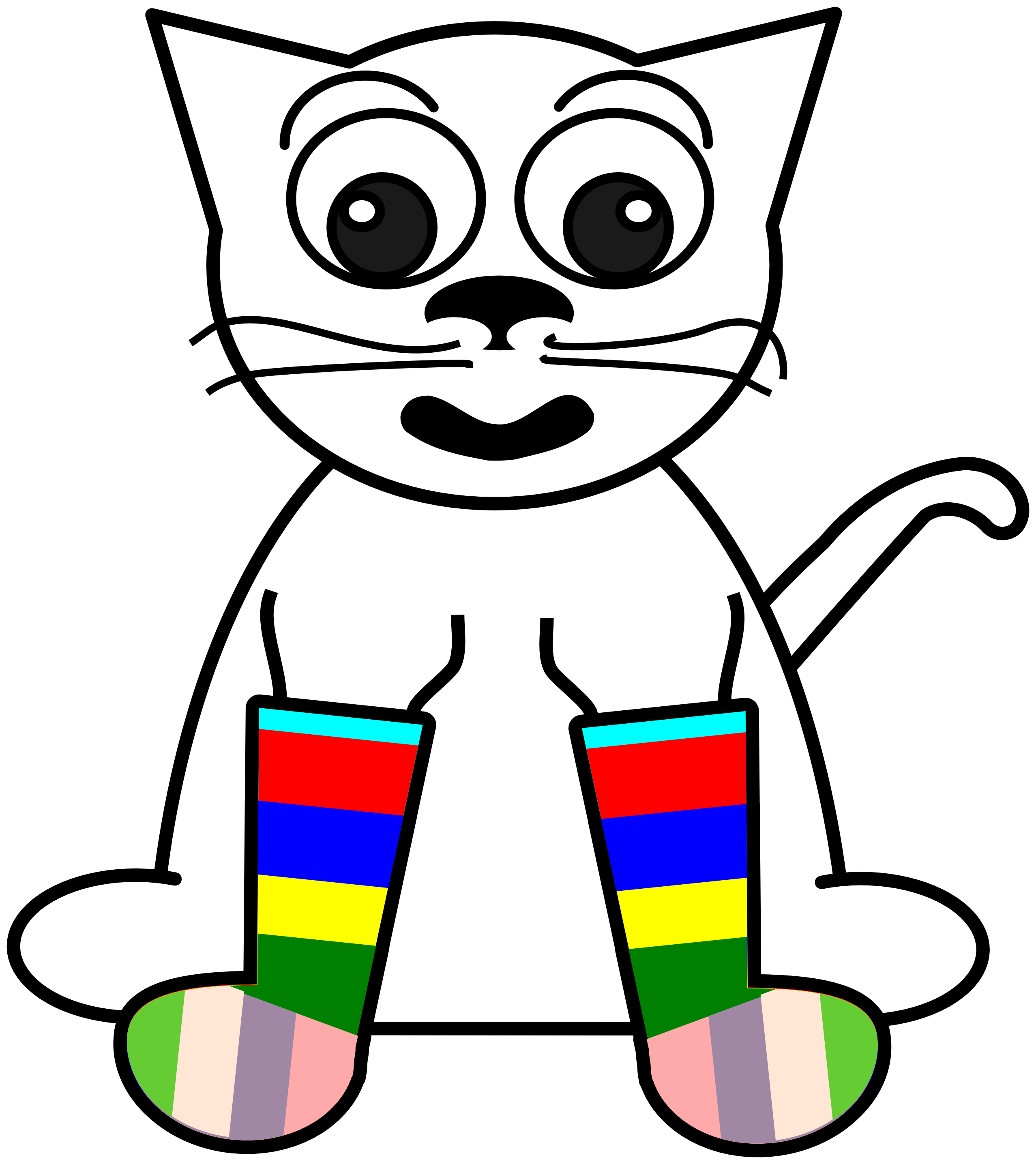 2555x2871 Clip Art Sock Pictures Clip Art