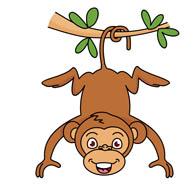 195x185 Free Clip Art Monkeys Clipart