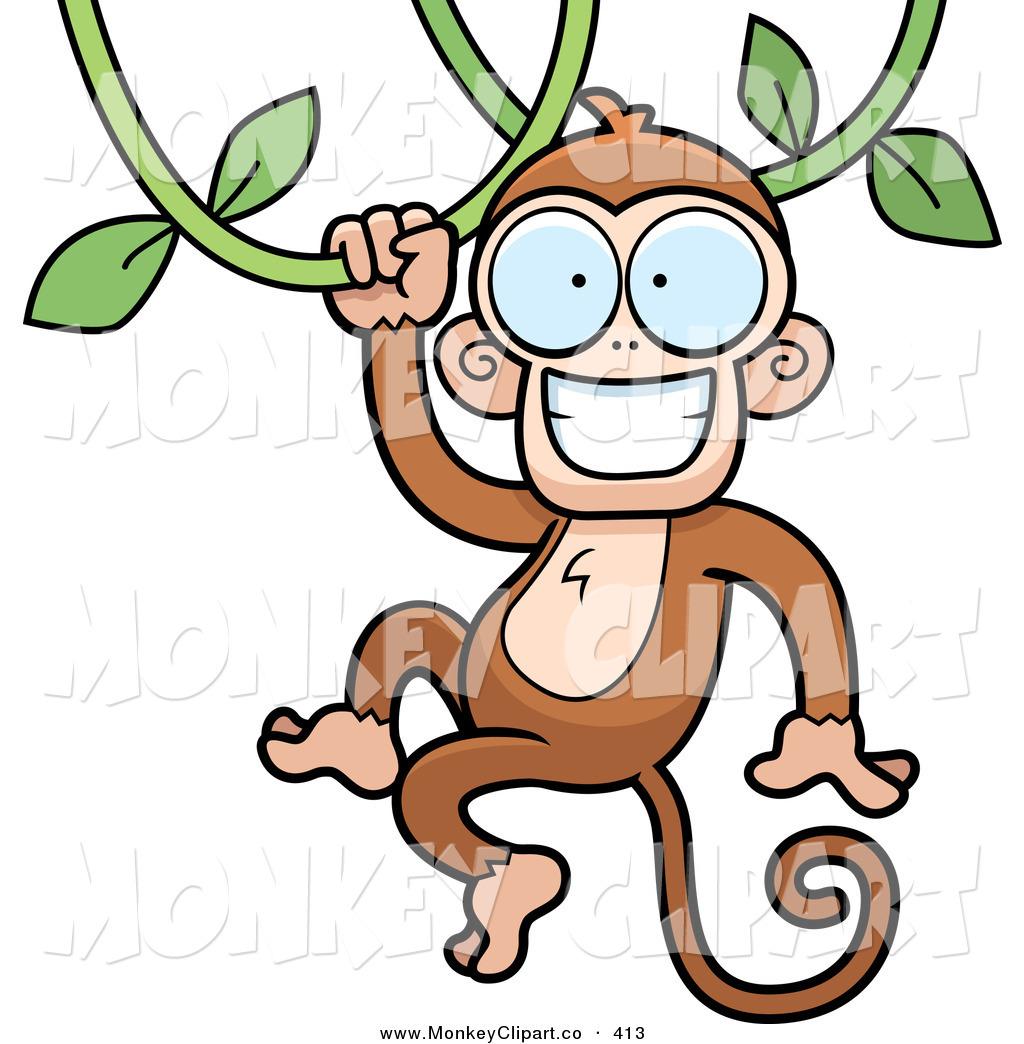 1024x1044 Monkey Swinging On Vine.clipart