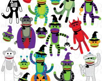 340x270 Sock Monkey Clipart Etsy