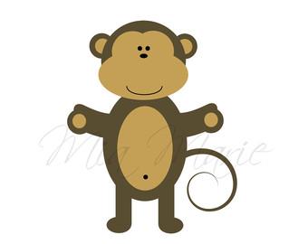 340x270 Baby Monkey Clipart Etsy