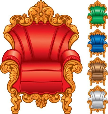 455x478 Free European Gorgeous Single Sofa Clipart And Vector Graphics
