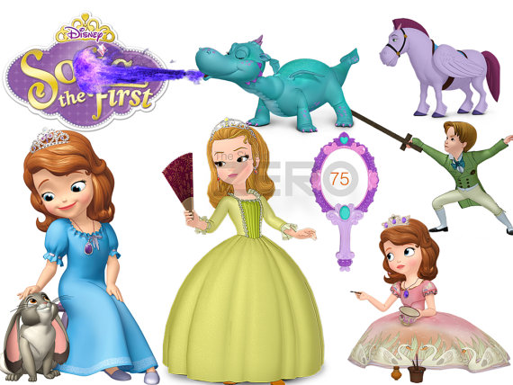 570x428 75 Sofia The First, Digital Clipart Of 300dpi Png Images, Instant