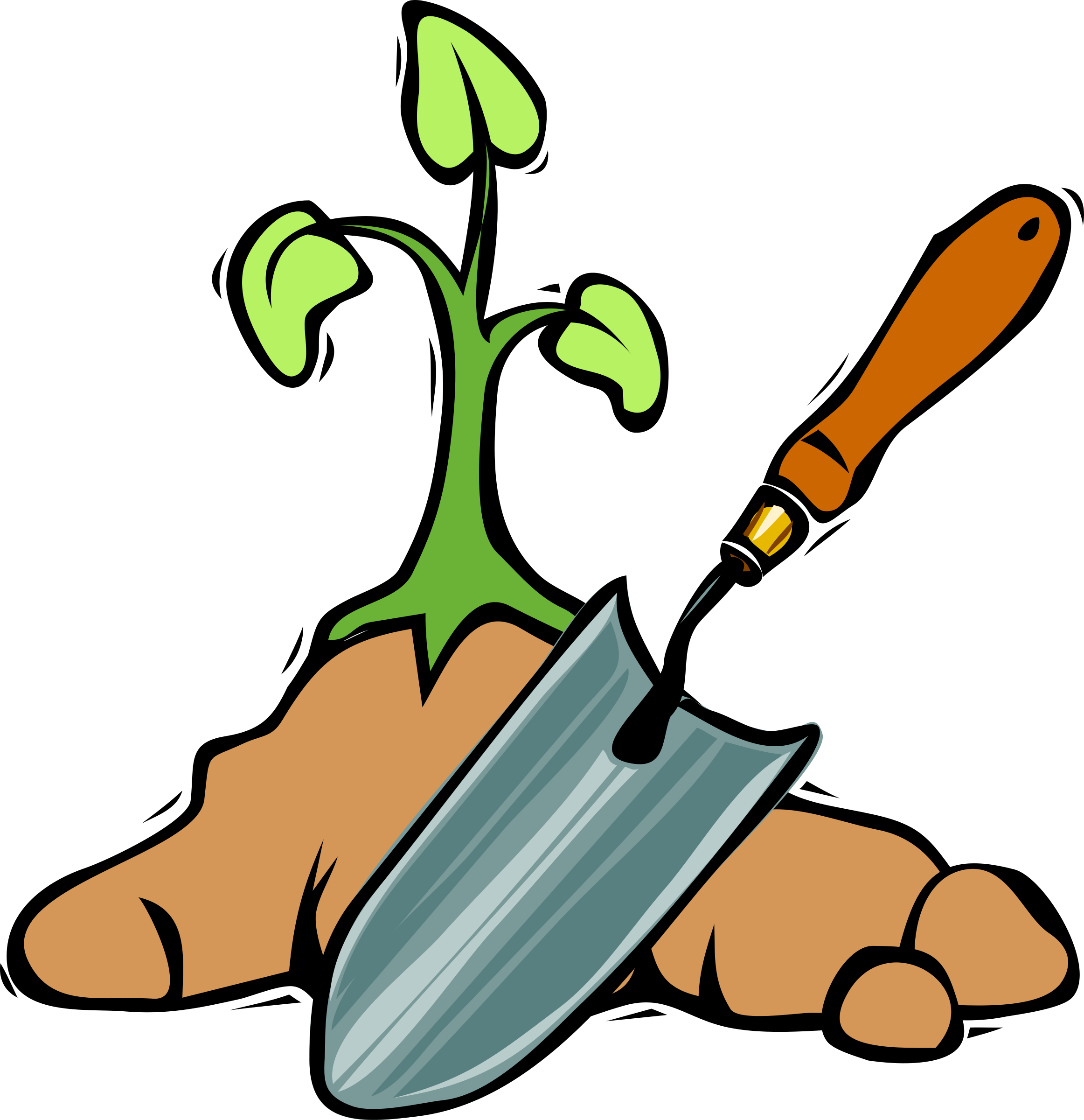 2324x2400 Gardening Shovel Clipart