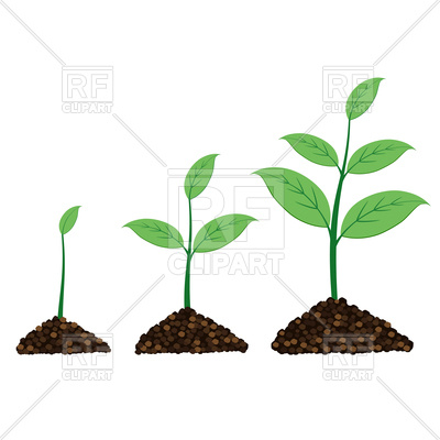 400x400 Plant Grow Up In Moment Royalty Free Vector Clip Art Image