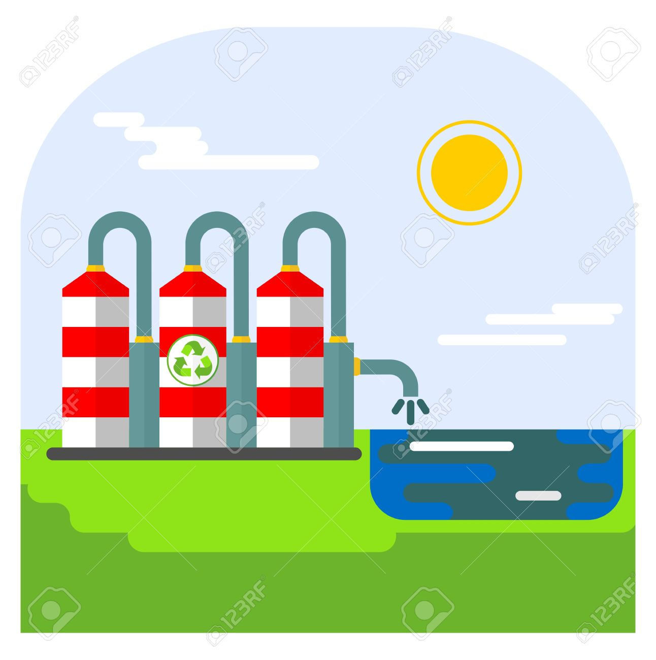 1292x1300 Pollution Clipart Water And Soil